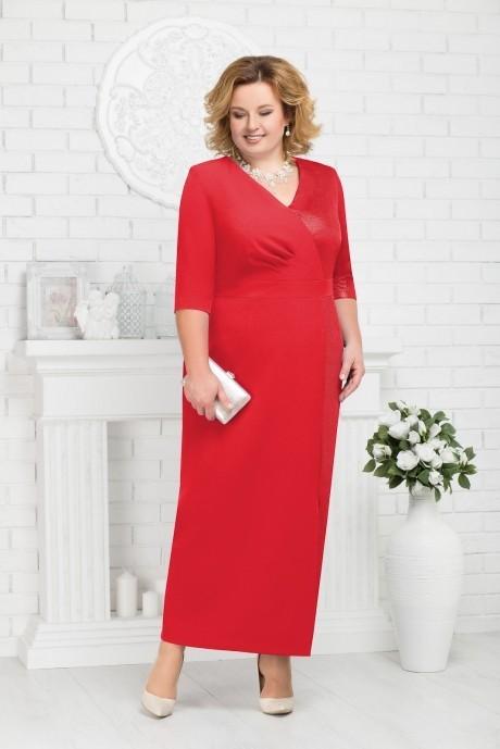 Длинные платья, платья в пол Нинель Шик 7216 красный