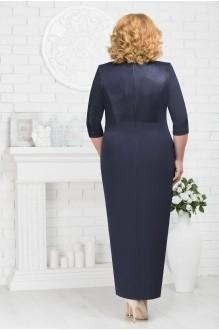 Длинные платья, платья в пол Нинель Шик 7216 темно-синий фото 2