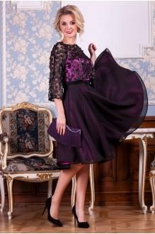 Euro-moda 198 розово-фиолетовый+черный