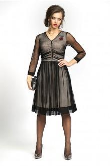 Вечерние платья ALANI COLLECTION 828 черный+беж фото 1