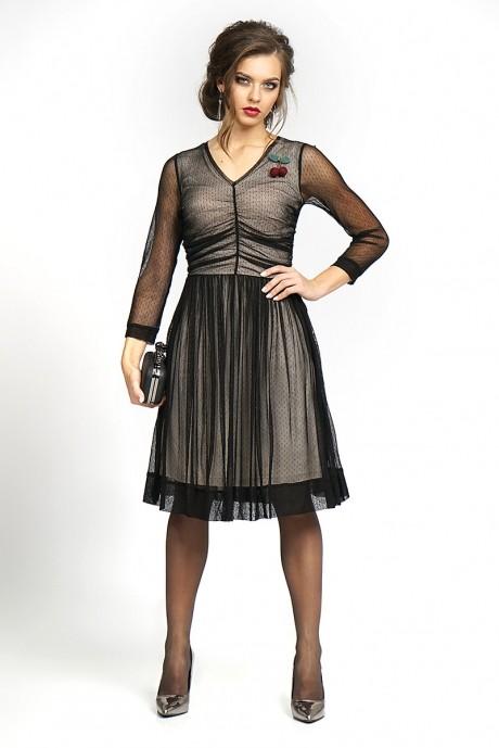 Вечерние платья ALANI COLLECTION 828 черный+беж