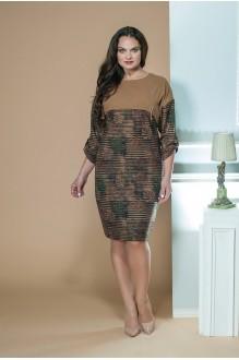 Moda-Versal 1785 коричневый+листья