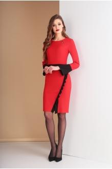 Ksenia Stylе 1585  красный+черная отделка