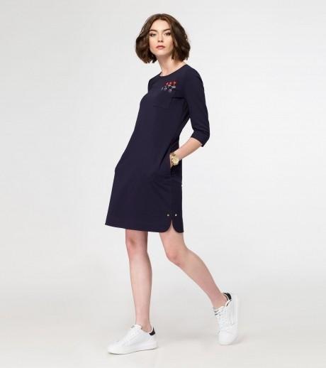 Повседневные платья PANDA 414380 тёмно- синий