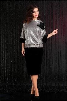 Мода-Юрс 2441 чёрный + светлое серебро
