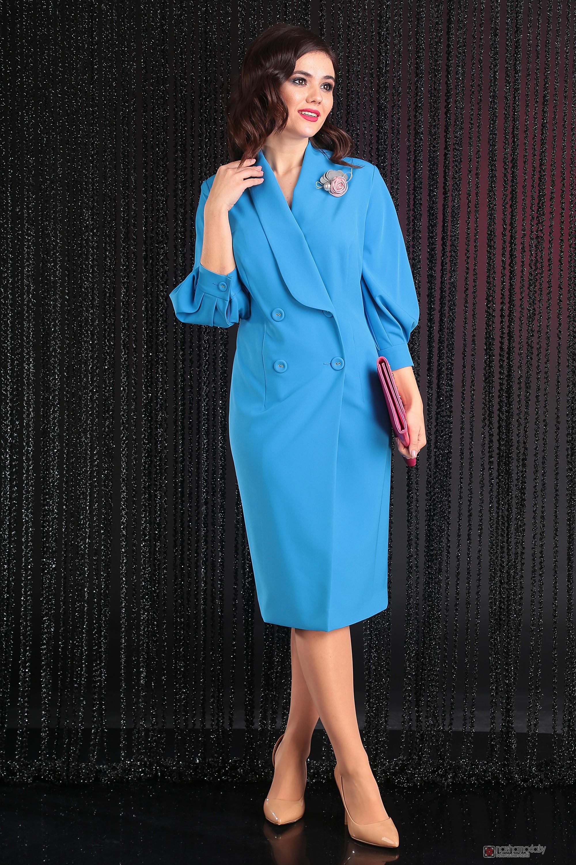 4dfeba40620 Вечерние платья Мода-Юрс 2425 голубой