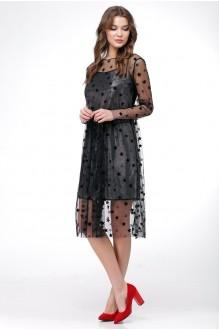 Вечерние платья Ладис Лайн 1029 серебристо-черный фото 2
