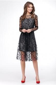 Вечерние платья Ладис Лайн 1029 серебристо-черный фото 3