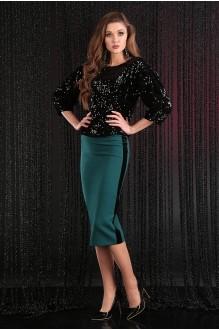 Мода-Юрс 2382 чёрный + зеленый
