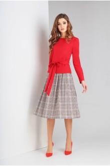Милора Стиль 653 красный с серым