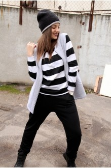 Runella 1310 полоска черный+белый