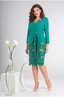 Мода-Юрс 2447 зеленый + золотисто-бежевый