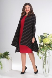 Кардиганы Мода-Юрс 2357А черный + коричневый фото 3