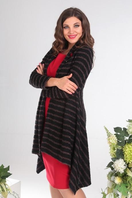 Кардиганы Мода-Юрс 2357А черный + коричневый