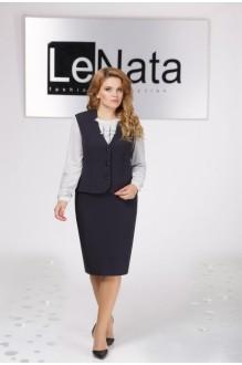 *Распродажа LeNata 31922 т.синий блуза в снежинку