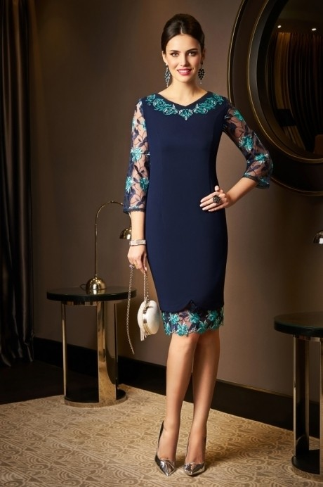 Вечерние платья *Распродажа *Распродажа Lissana 3518 темно-синий