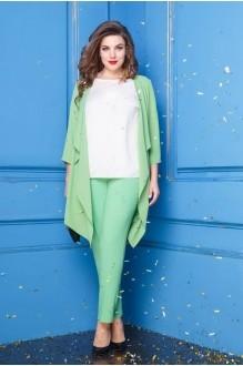 Anastasia 252 зелёный/молочный