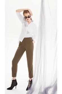 Брючные костюмы /комплекты DiLiaFashion 0207 белый/хаки фото 2