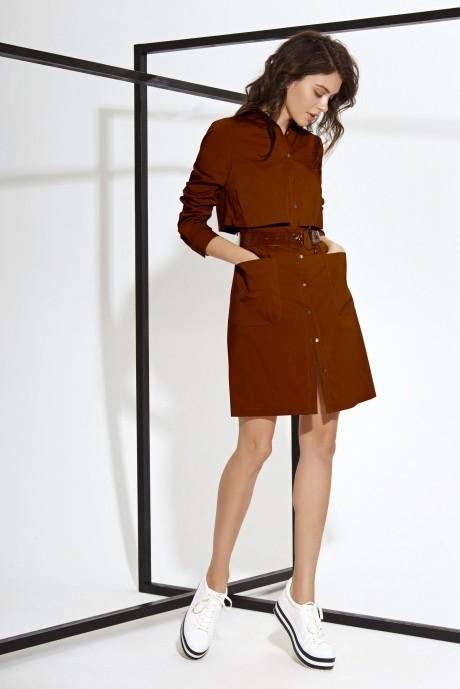Повседневные платья Buter 631 коричневый