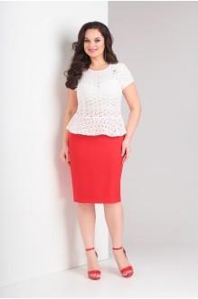 Милора Стиль 636 белый с красным