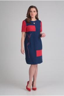 Летние платья VIOLA STYLE 0831 сине-красный фото 2