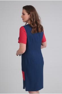 Летние платья VIOLA STYLE 0831 сине-красный фото 3