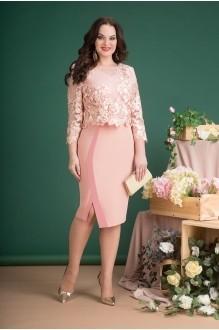 Лилиана 688N персик (платье+жакет)