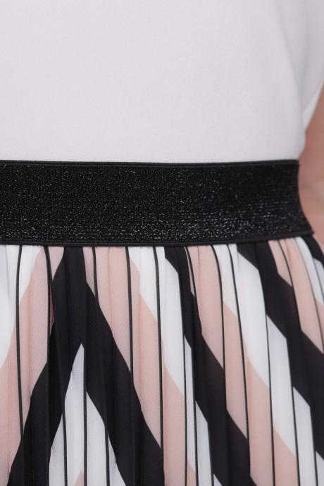LeNata 12952 розово-чёрные полоски