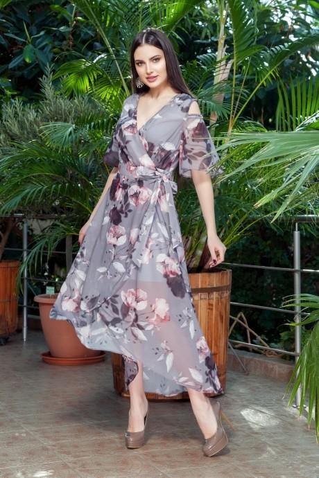 Длинные платья, платья в пол ЛаКона 1112 темно-серый