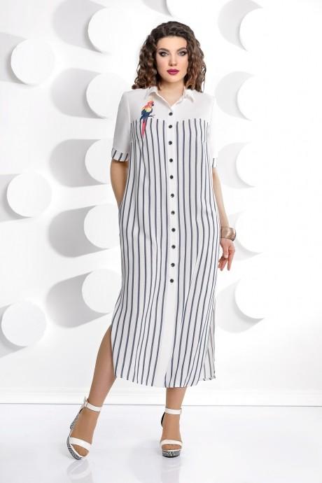 Длинные платья, платья в пол Мублиз 226  полоска