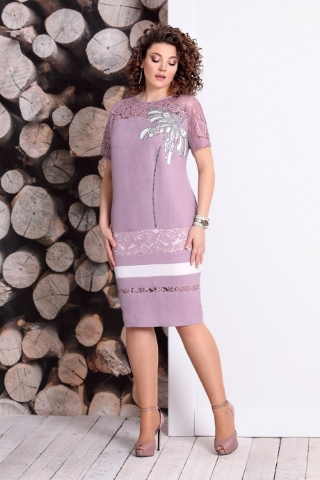 Летние платья Мублиз 327 пыльная роза