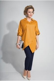 Elpaiz 389    блуза горчица + брюки синий