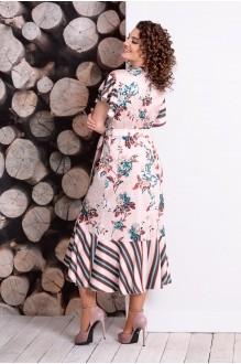 Летние платья Мублиз 331 беж+цветы+полоска фото 2