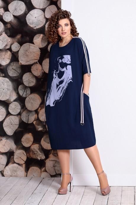 Летние платья Мублиз 334 синий