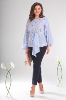 Блузки и туники Мода-Юрс 2407 голубой фото 3