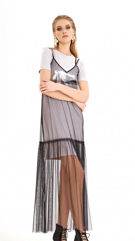 DiLiaFashion 0218 серый беж/чёрный
