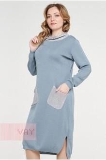 *Распродажа VAY 182-2369 серо-голубой/пайетки серый
