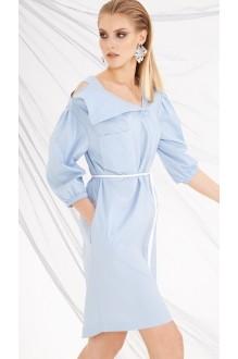 Летние платья DiLiaFashion 0219 голубой фото 2