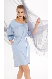 Летние платья DiLiaFashion 0219 голубой фото 3