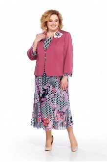 Pretty 848 жакет розовый/платье в розовые цветы