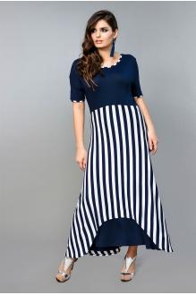 Diva 1015 темно-синее платье