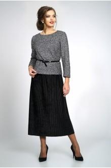 Модель *Распродажа ALANI COLLECTION 829 блуза серебро+юбка черная