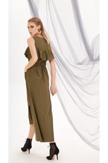 Летние платья DiLiaFashion 0212 хаки фото 2