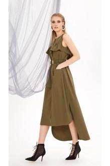 Летние платья DiLiaFashion 0212 хаки фото 3
