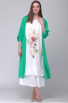 SOVA 11037  костюм зеленый -молочный