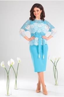 Мода-Юрс 2453 голубой + белый