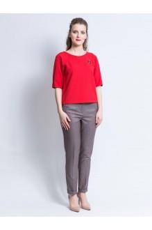 Ivera Collection 548 серый в красную полоску