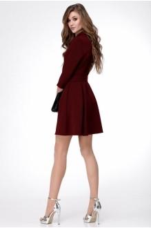 Деловые платья *Распродажа Ладис Лайн 1052 бордо фото 2