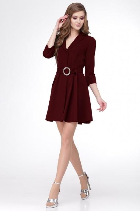 Деловые платья *Распродажа Ладис Лайн 1052 бордо
