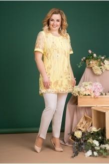Лилиана 715В желтый+молочный